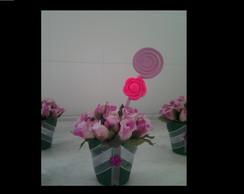 Lembrancinha Vasinho de flor com �m�