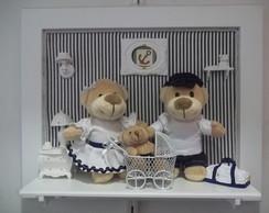 quadro personalizado fam�lia urso