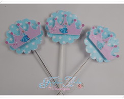 Topper Para Docinho Ou Cupcake Princesa