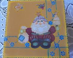 Caixa de natal com tampa de babado
