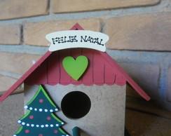 Mini Casinha De Passarinho Natal