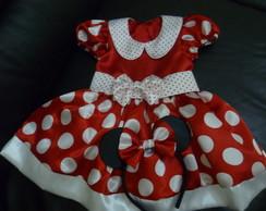 Linda fantasia da Minnie Tam. 1-5 anos