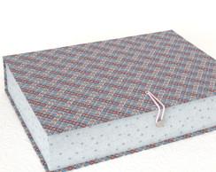 Caixa Organizadora Azul e Rosa