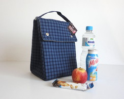 Lunch Bag - Xadrez Azul