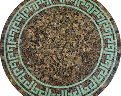 Tampo De Mesa Em Mosaico De M�rmore