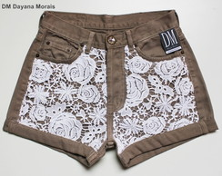 Hot Pants Renda Guipir - DM