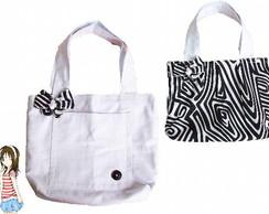 bolsa dupla-face zebra