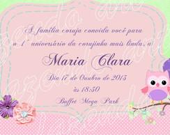 Arte digital convite Corujinha