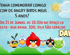Arte Digital Convite Angry Birds