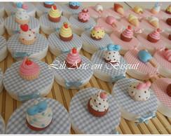 Latinhas Cupcakes sorvete e picol�s.