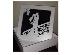 Caixa Lembran�a de Casamento - espelhada