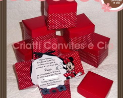Convite caixinha surpresa Minnie