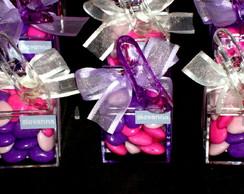 Caixa Sapatinho confete cora��o