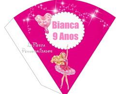 Cone Redondo Barbie Sapatilha M�gica