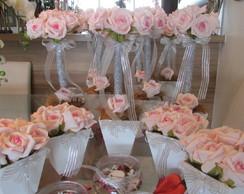 kit festa prata & rosa-beb� I