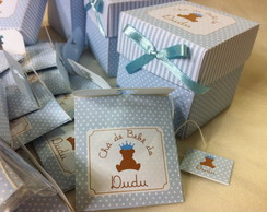 Convite sach� de ch� de beb� caixa c/15