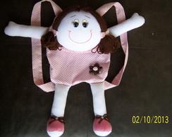 Mochila boneca de pano