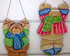 Ginger e Ursinho de Natal