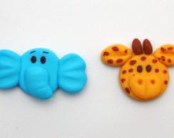 Apliques safari em biscuit.