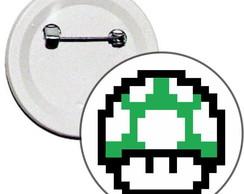 Boton 4,5cm Cogumelo 1UP Mario Bros