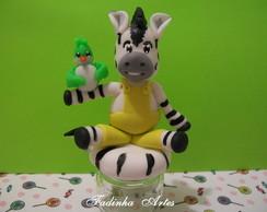 Potinho de Vidro com Zebra ZOU