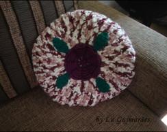 Almofada Redonda em Croch� Flor