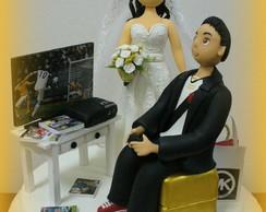Topo de bolo - casamento da Catharine