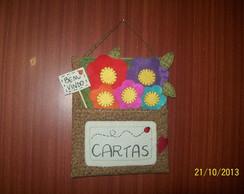 PORTA-CARTAS DECORATIVO DE FLORES.