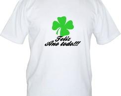 Camiseta Feliz ano todo