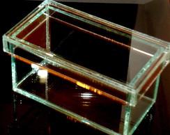 Caixa de vidro para doces