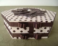 Caixa Sextavada Origami Grande