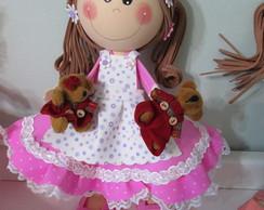 Boneca com ursinhos