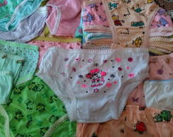 Calcinha Infantil Kit com 20 pe�as