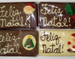 Placas de natal de chocolate