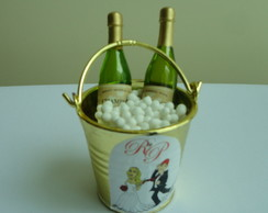 Mini Balde com champagne