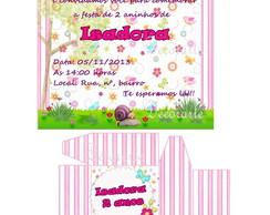 Convite Caixinha Jardim Encantado