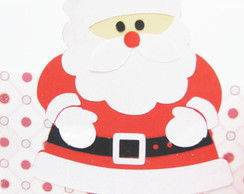 5 apliques scrap Papai Noel