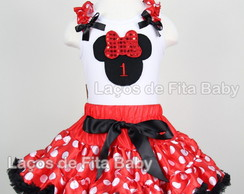 Conjunto Tutu Minnie Mouse