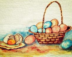 Pano de prato pintado � m�o