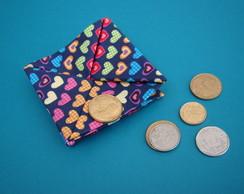 porta-treco origami tecido cora��es