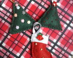 Trio de Enfeites Arvore de Natal