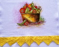 Pano de prato pintado a m�o