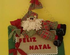 Papai Noel enfeite de Porta