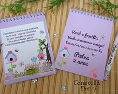 Bloquinho Convite Jardim Encantado