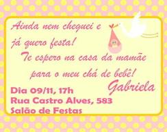 Ch� de Fralda Ch� de Beb� Convite