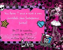 Arte Digital Convite Monster High