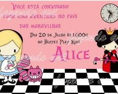 Arte convite Alice Pais das Maravilhas