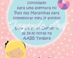 Arte digital convite Alice Pais Maravilha