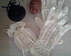 Luvas Vintage em Croch�