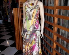 Vestido Longo Maxi Dress Tropical 2014
